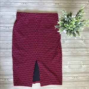 5 for $38 Zara printed pencil skirt